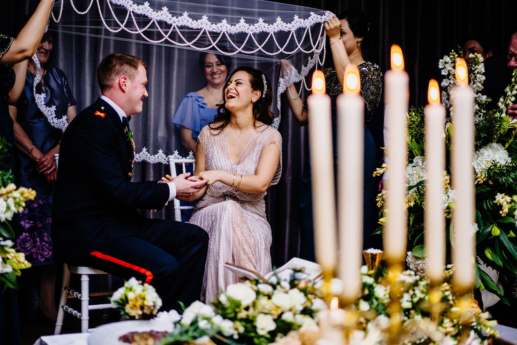 an Iranian wedding ceremony
