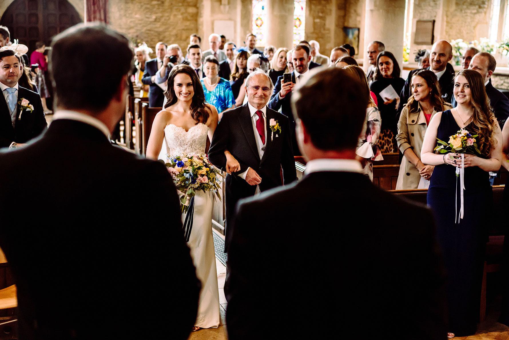 A bampton church wedding