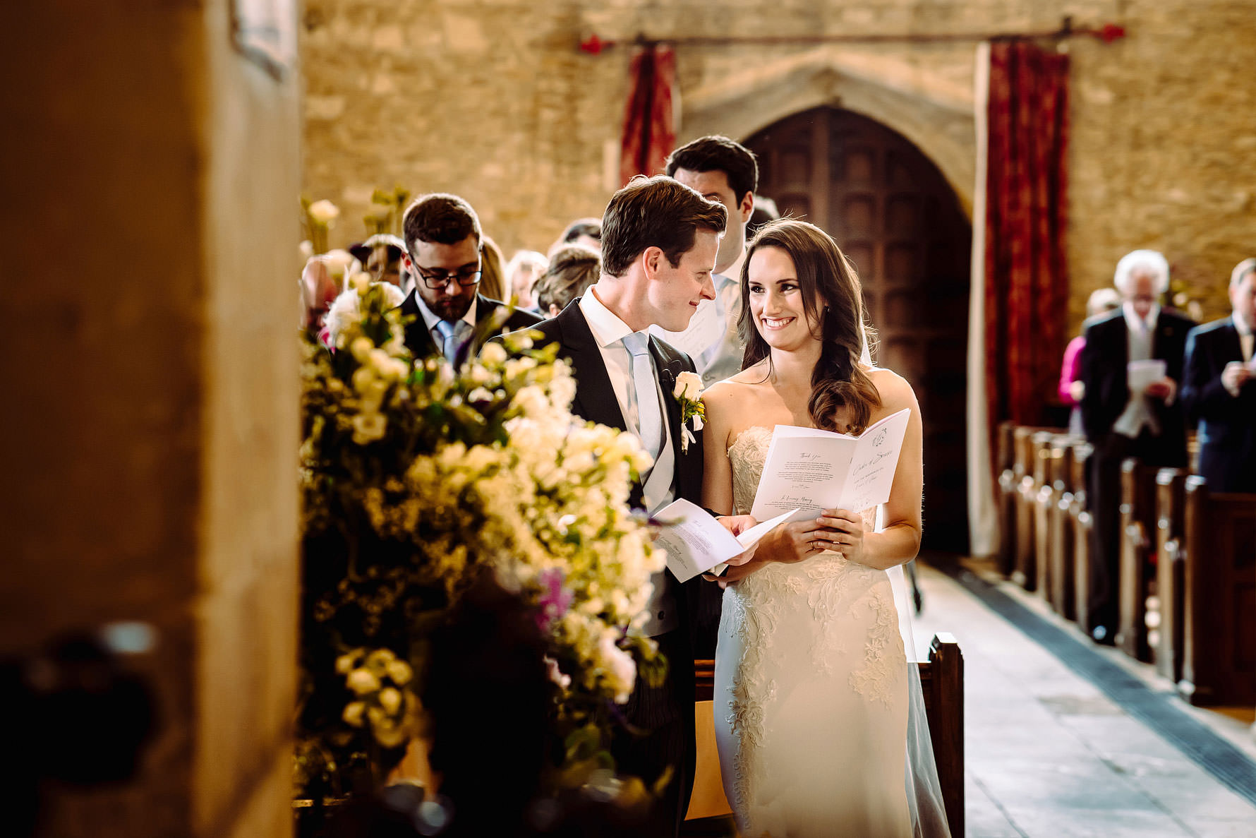 a couple marry in Brampton, Oxfordshire