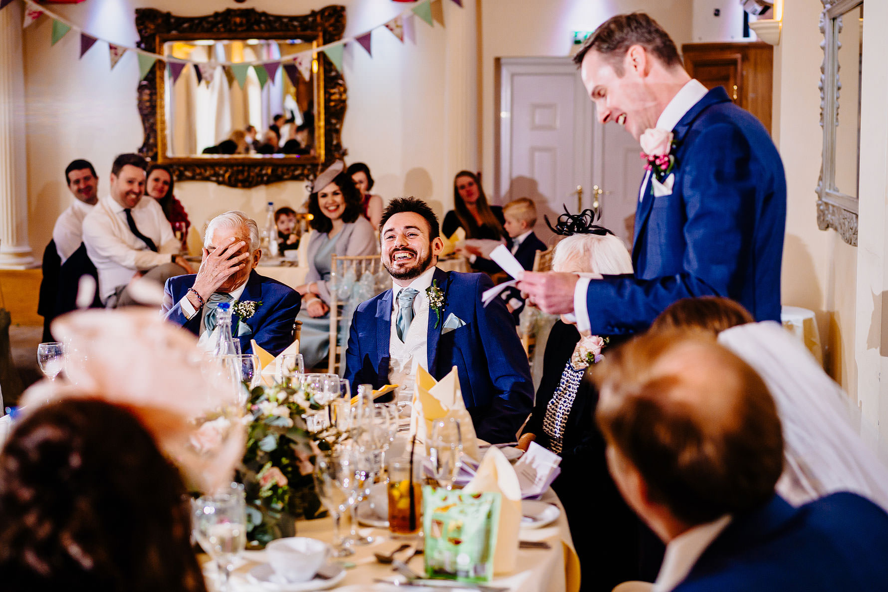 funny moments during a wedding speech