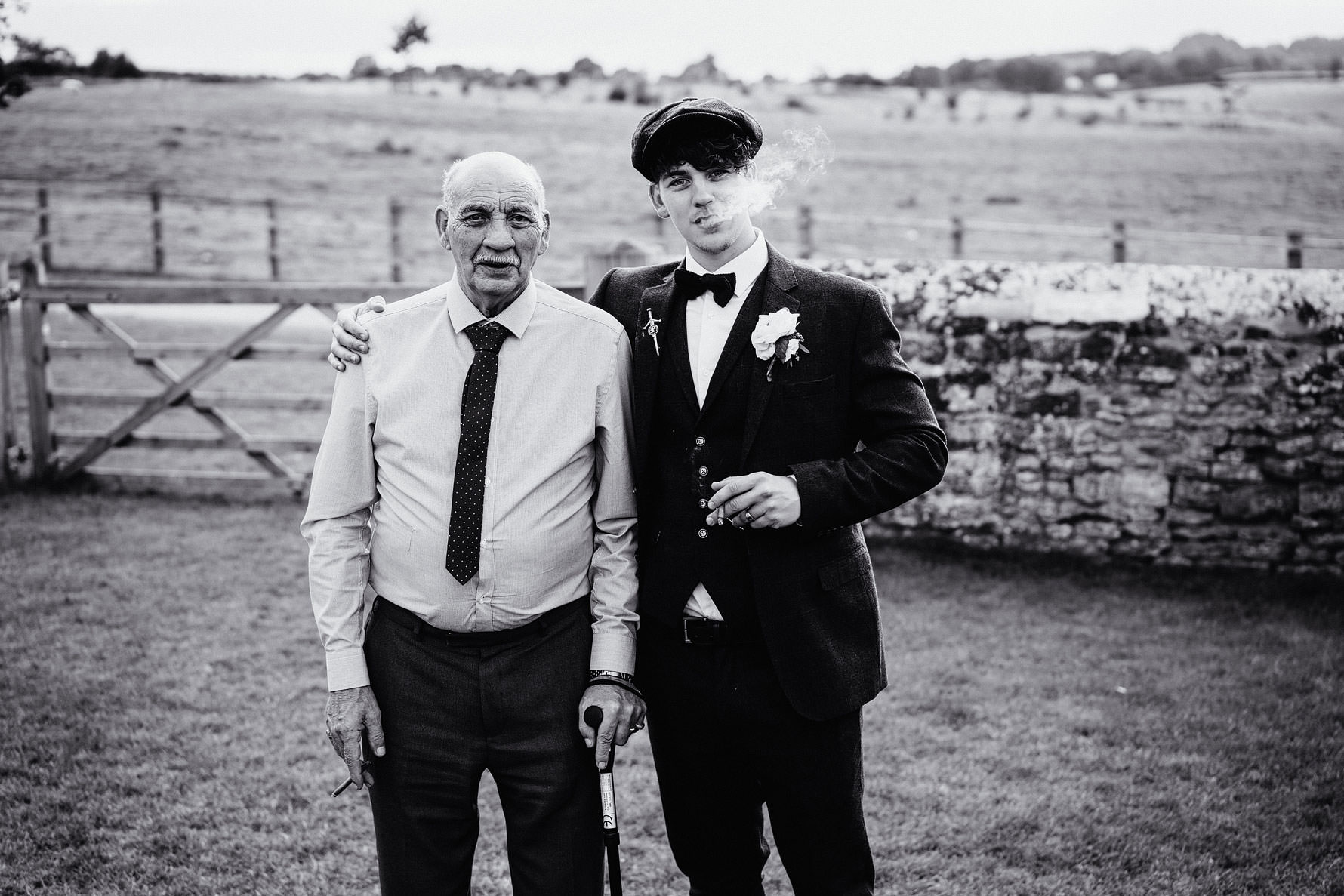 a groom and his grandfather