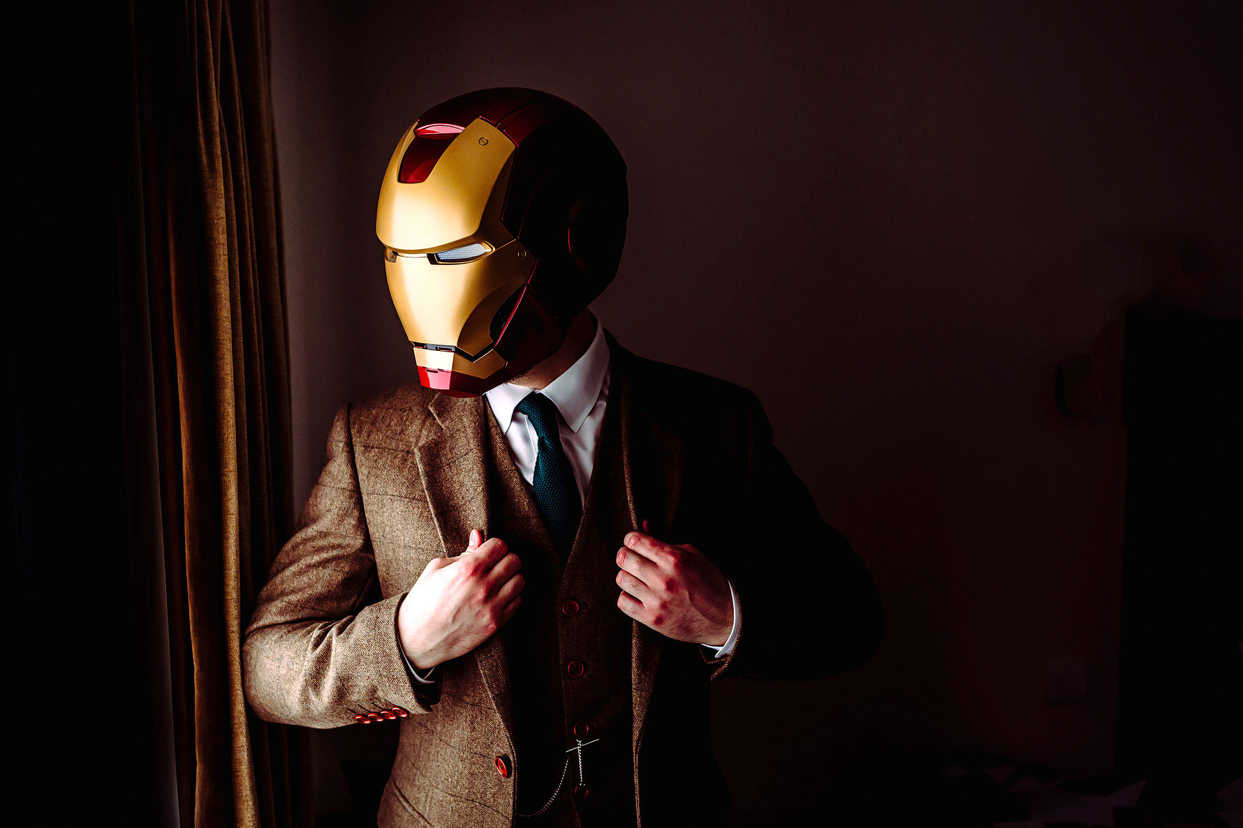 ironman at a wedding