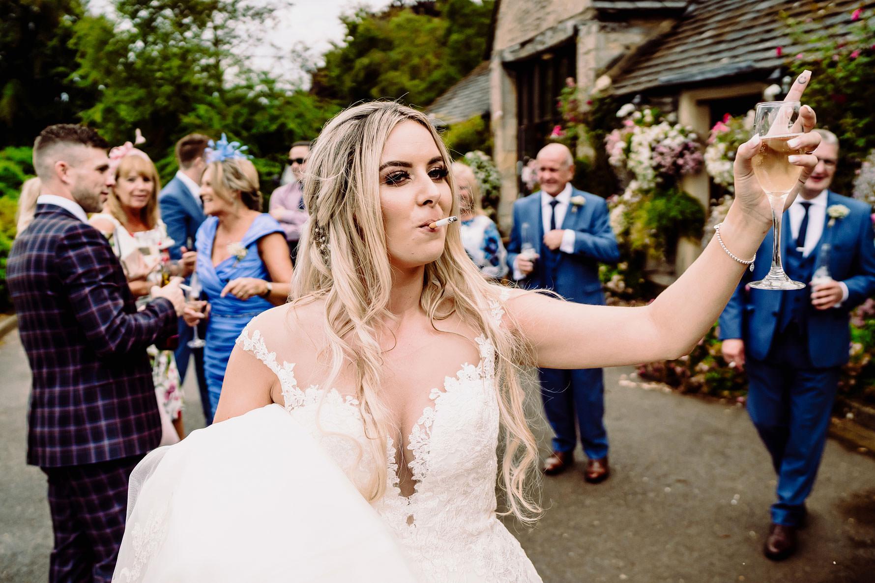a alternative portrait of a bride