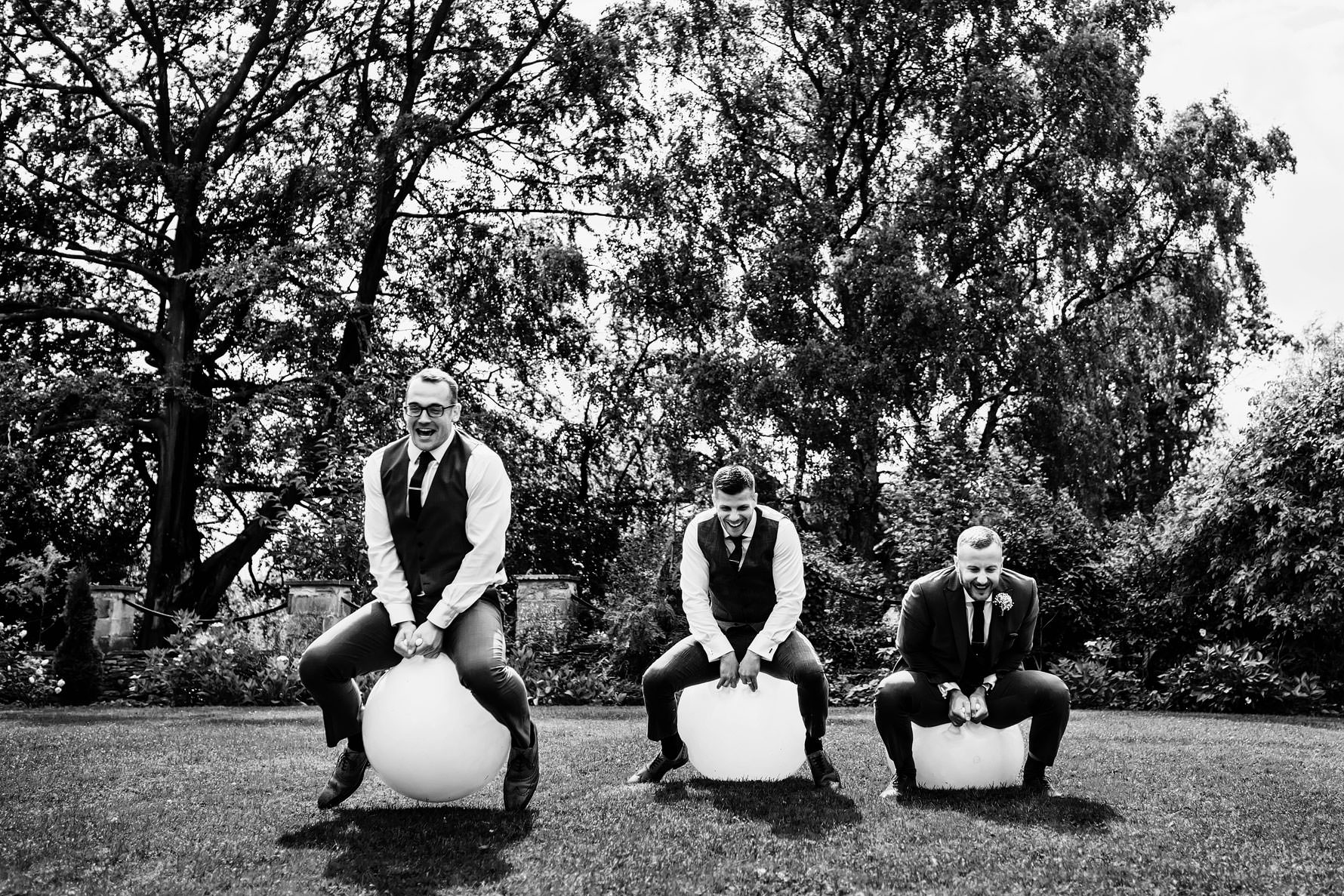 space hoppers at a wedding