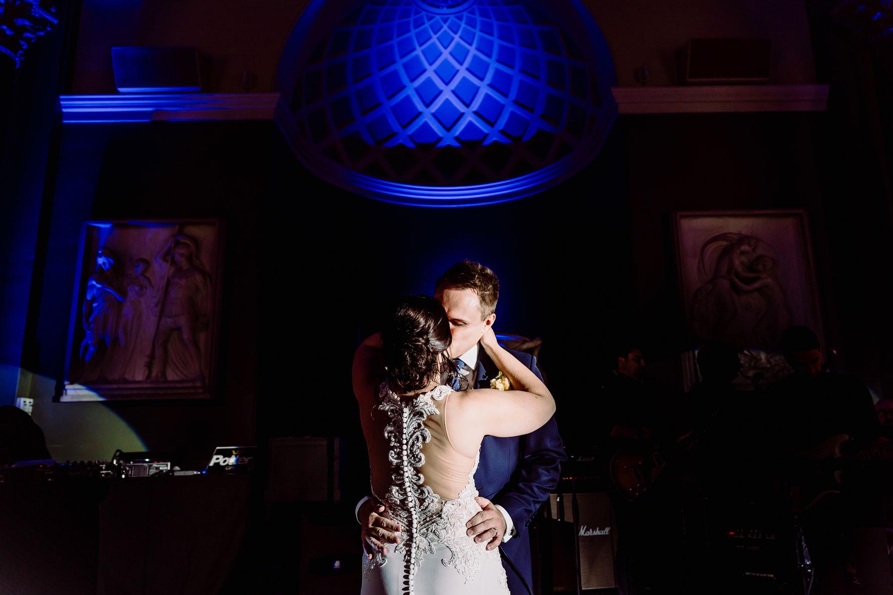 a first dance kiss