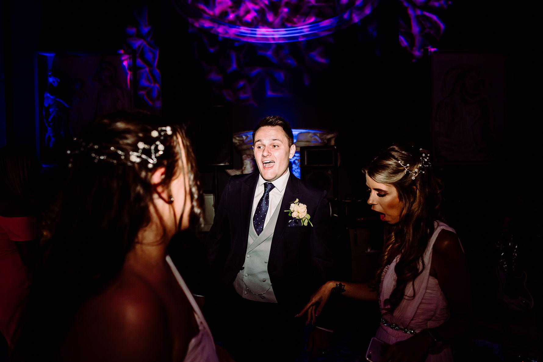 a groom having a dance