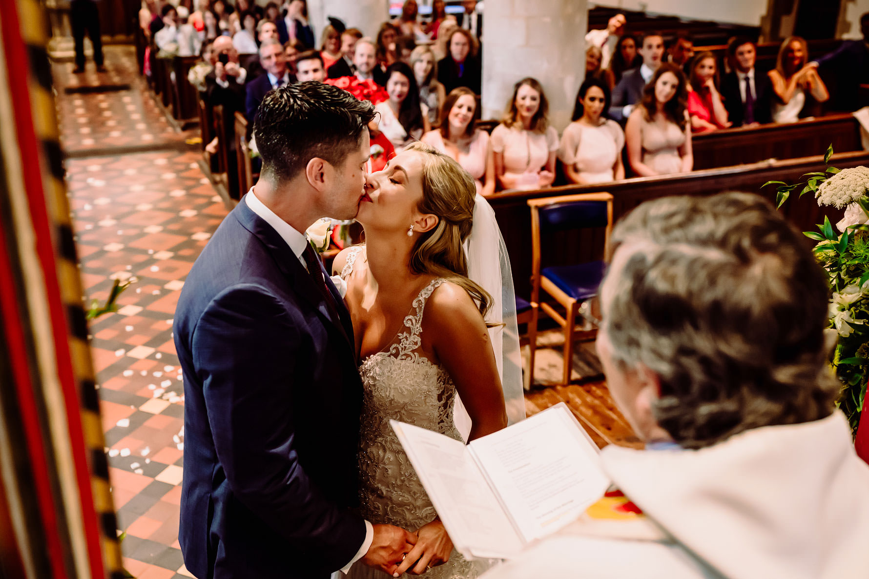 a kiss for the groom