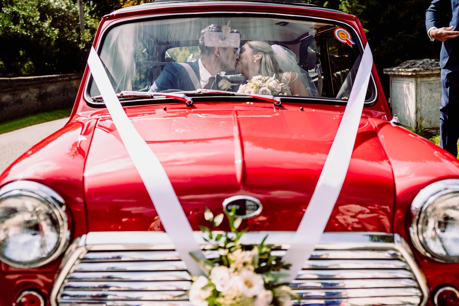 wedding day mini cooper