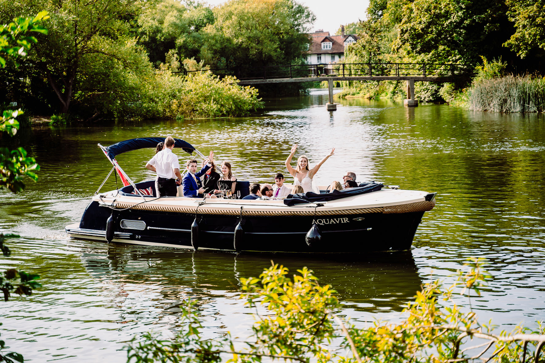 boat wedding on the thames