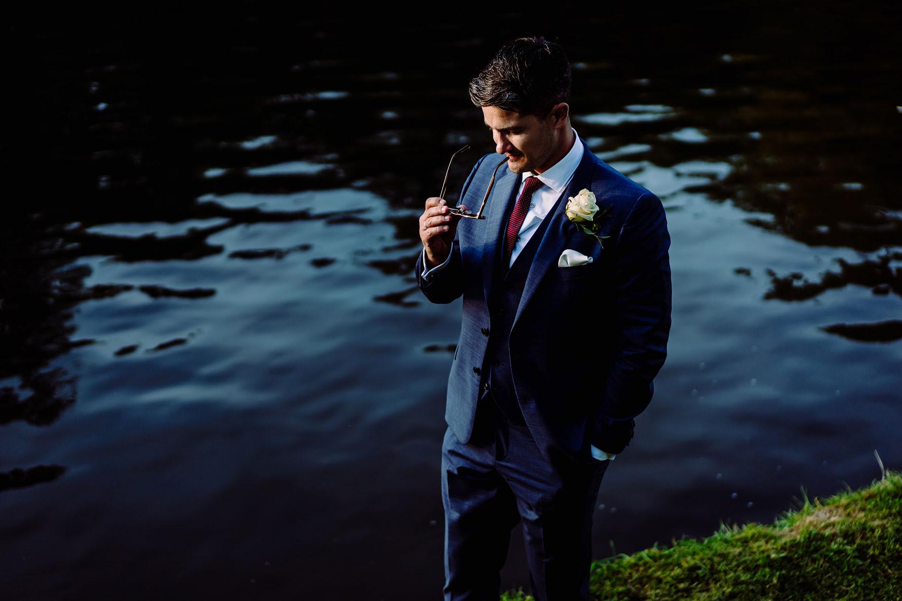 a contemporary groom portrait