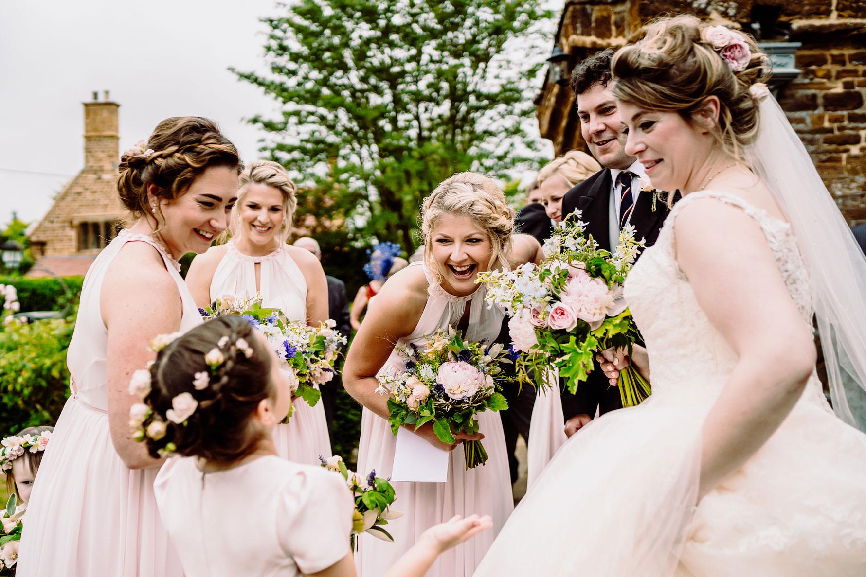 a happy bridemaid at a wedding