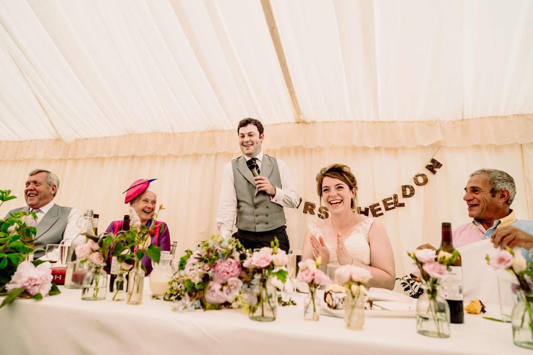 the speeches at a northampton wedding