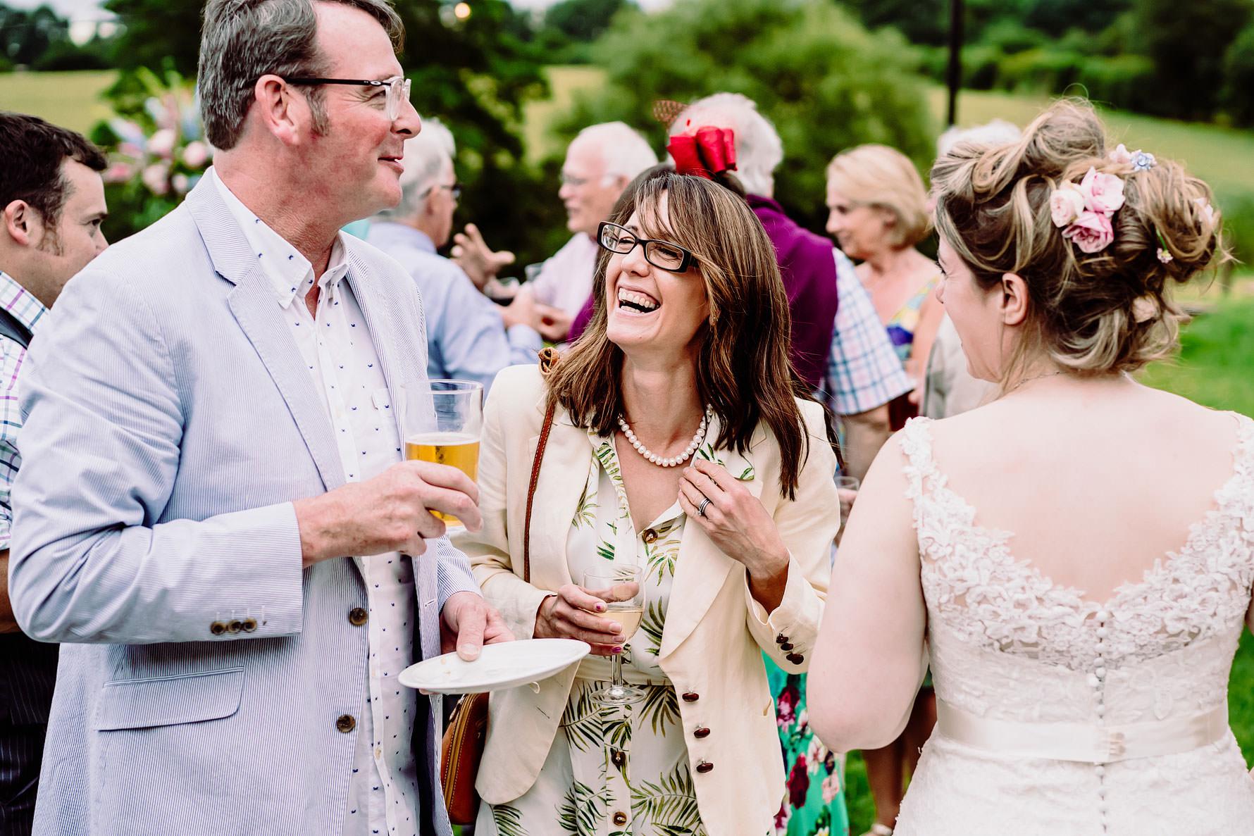 happy guests at a wedding